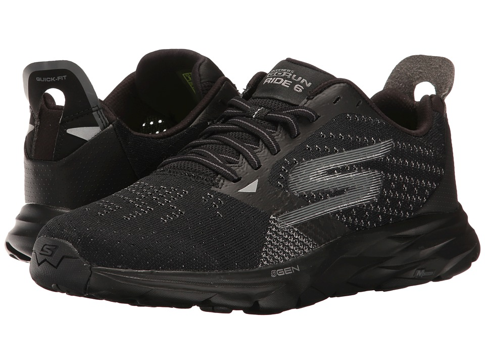 SKECHERS - Go Run Ride 6 (Black) Women's Running Shoes