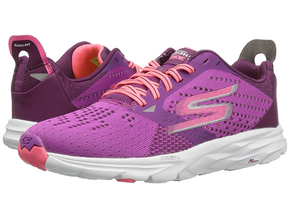 SKECHERS - Go Run Ride 6 (Purple/Pink) Women's Running Shoes