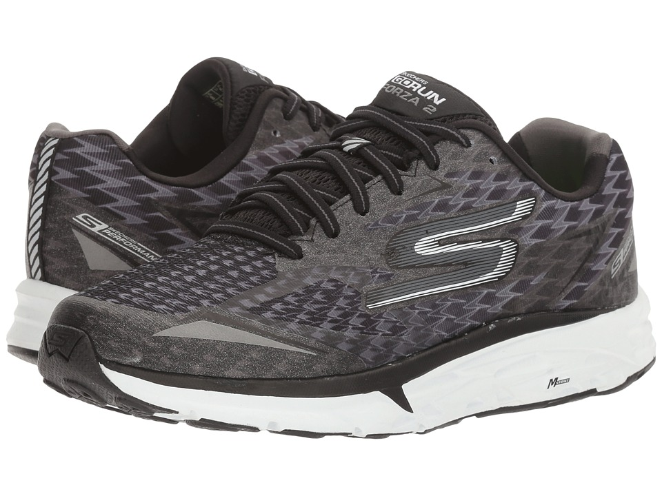 SKECHERS - Go Run Forza 2017 (Black/White) Women's Running Shoes