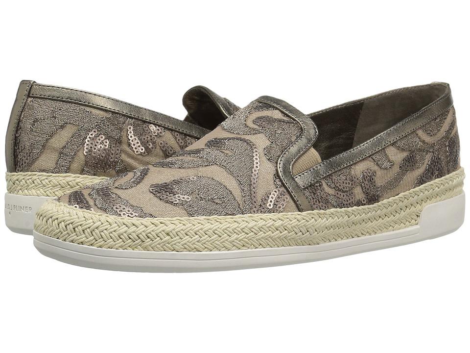 Donald J Pliner - Pamela (Taupe Rustic Brocade) Women's Slip on Shoes