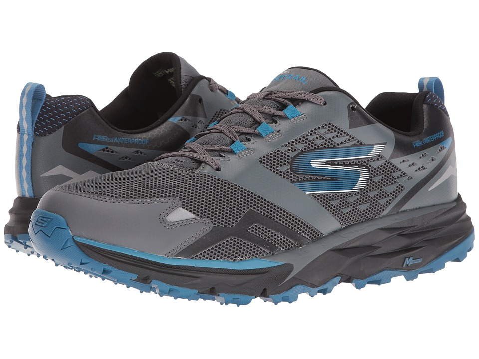 SKECHERS - GOTrail - Adventure (Charcoal/Blue) Men's Running Shoes