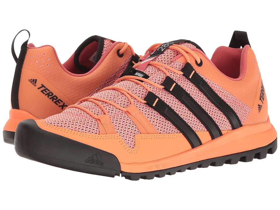adidas Outdoor - Terrex Solo (Easy Orange/Black/Tactile Pink) Women's Shoes