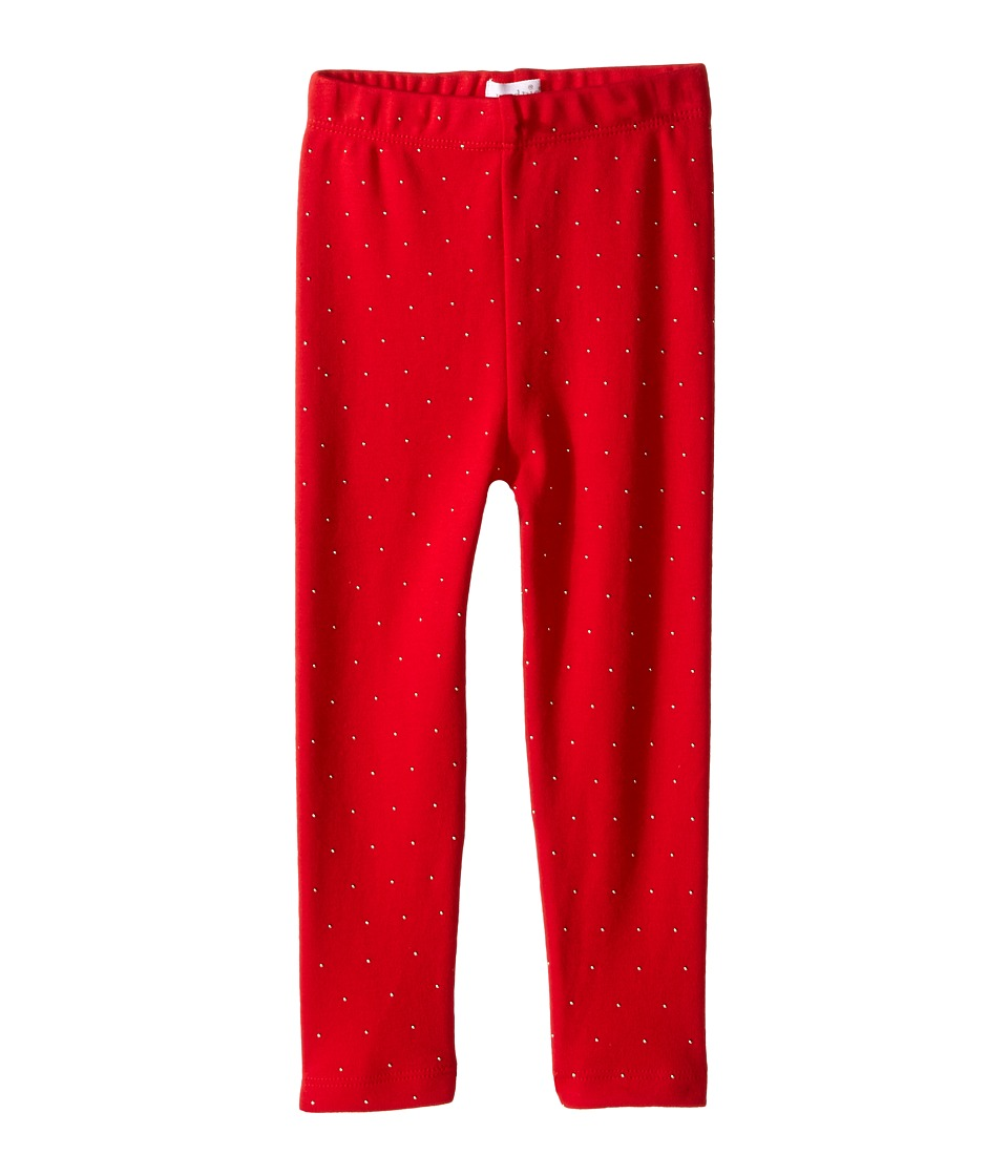 Mud Pie - Red Gold Dot Leggings (Infant/Toddler) (Red) Girl's Casual Pants