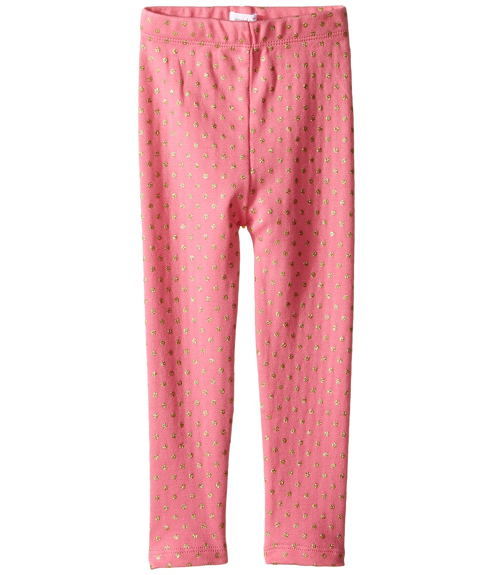 Mud Pie - Pink Gold Dot Leggings (Infant/Toddler) (Pink) Girl's Casual Pants