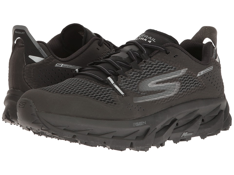 SKECHERS - Go Trail Ultra 4 (Black) Men's Running Shoes