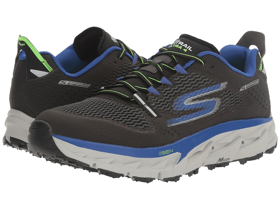 SKECHERS - Go Trail Ultra 4 (Black/Blue) Men's Running Shoes