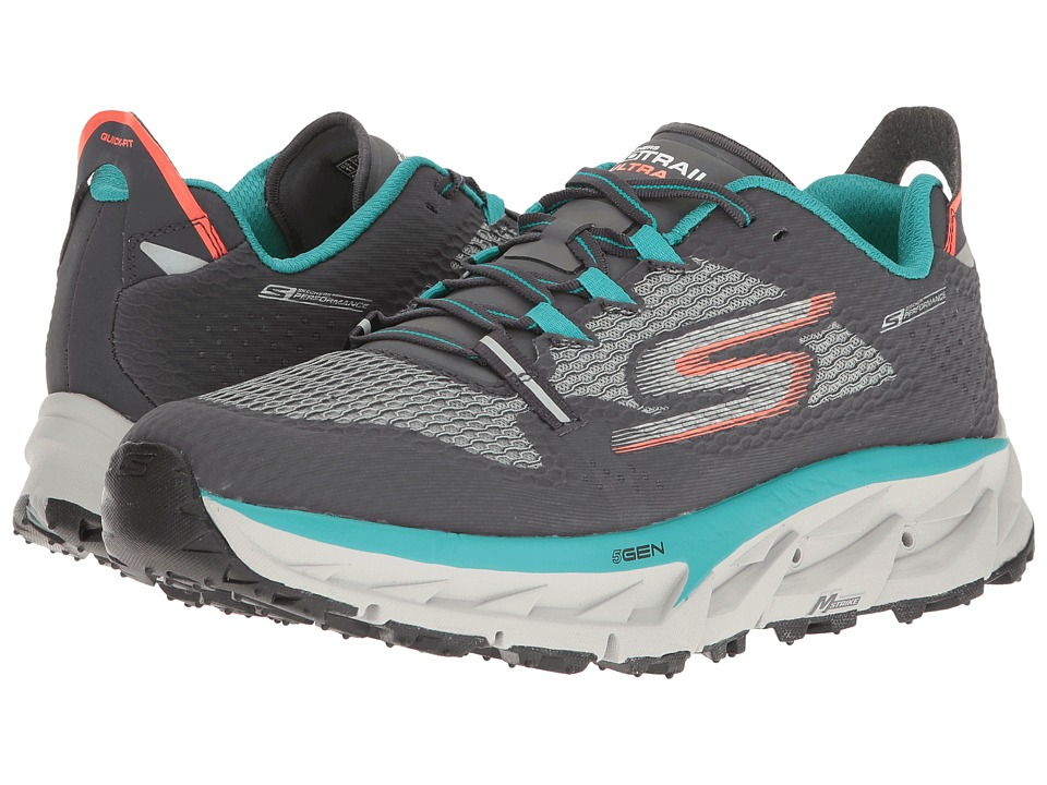 SKECHERS - Go Trail Ultra 4 (Charcoal/Teal) Men's Running Shoes