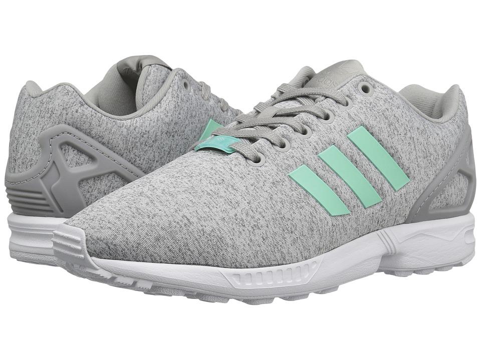 adidas Originals ZX Flux (Medium Grey Heather/Easy Mint/White) Women
