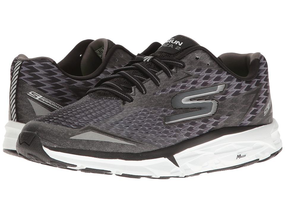 SKECHERS - Go Run Forza 2017 (Black/White) Men's Running Shoes