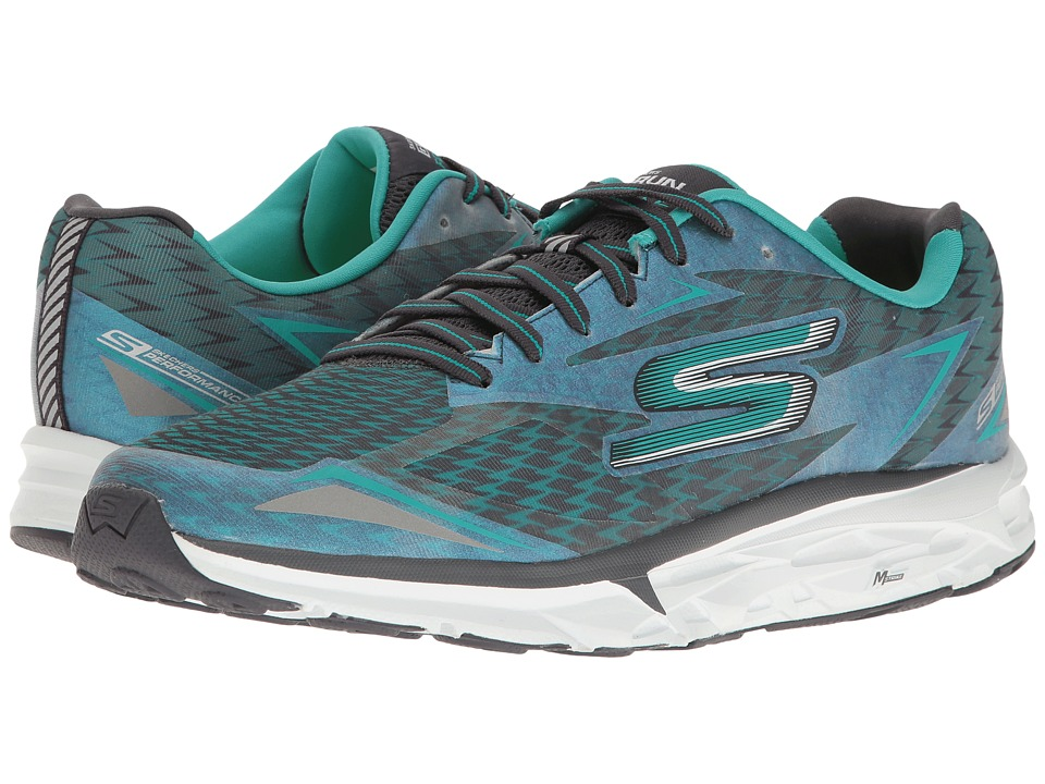 SKECHERS - Go Run Forza 2017 (Charcoal/Teal) Men's Running Shoes