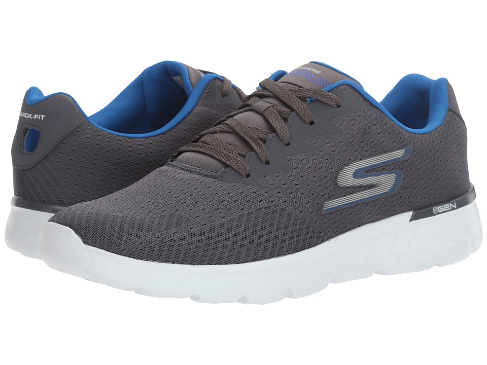 SKECHERS Performance - Go Run 400 (Charcoal/Blue) Men's Running Shoes