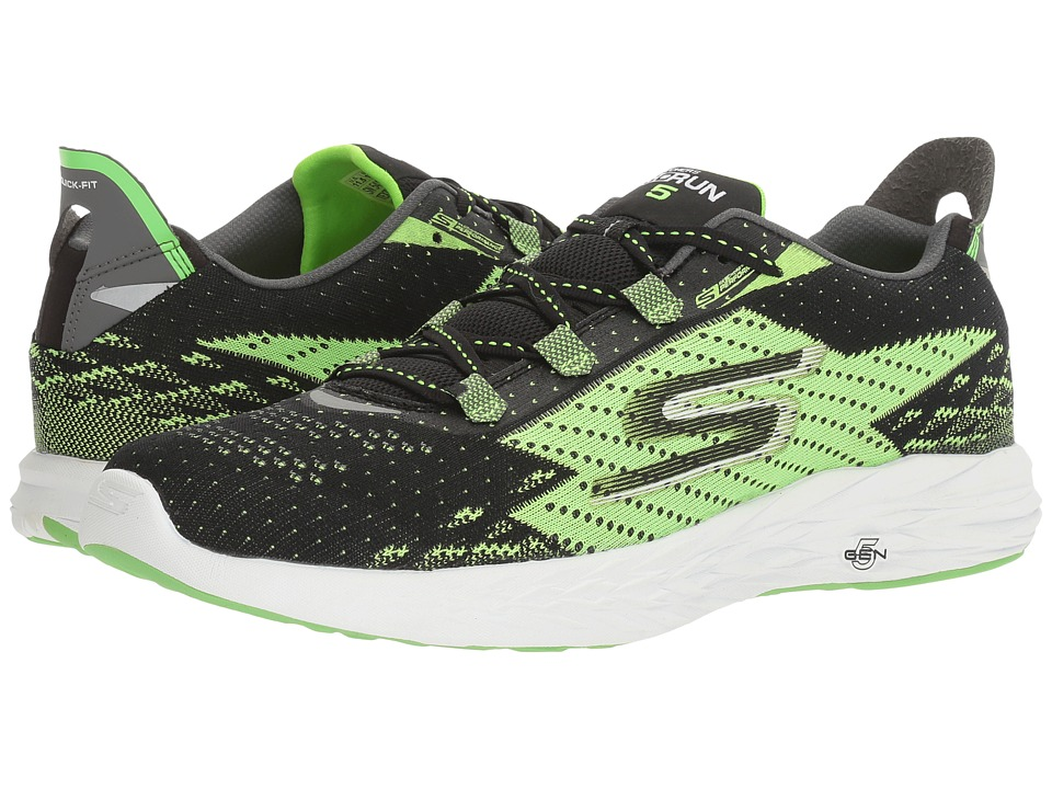 SKECHERS - Go Run 5 (Black/Green) Men's Running Shoes