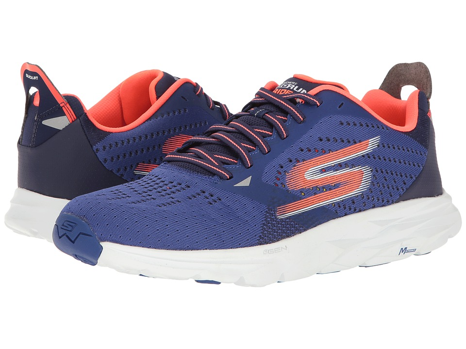 SKECHERS - Go Run Ride 6 (Blue/Orange) Men's Running Shoes