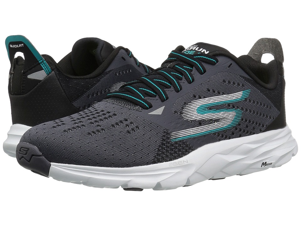SKECHERS - Go Run Ride 6 (Charcoal/Teal) Men's Running Shoes