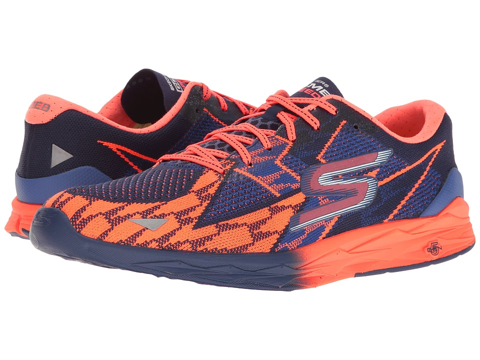 SKECHERS - Go Meb Speed 4 (Blue/Orange) Men's Running Shoes