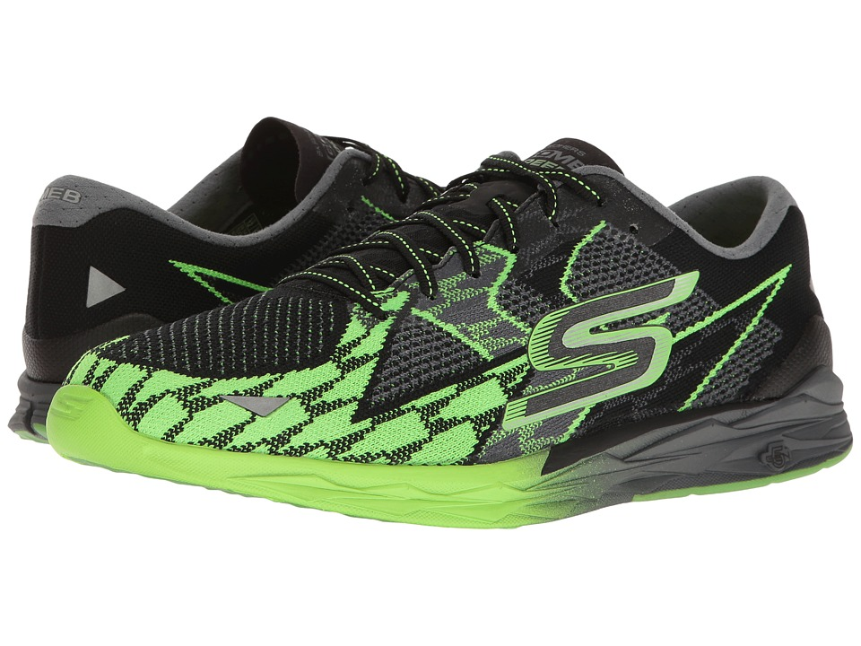 SKECHERS - Go Meb Speed 4 (Black/Green) Men's Running Shoes