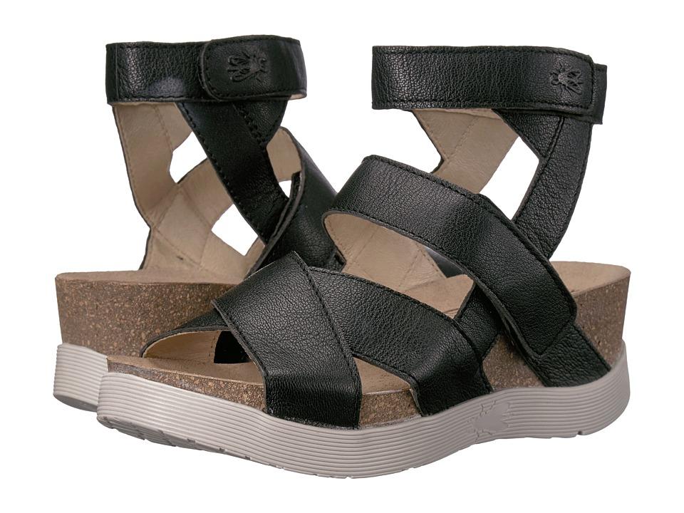 FLY LONDON - Wege669Fly (Black Mousse) Women's Shoes