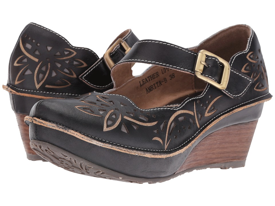 Spring Step - Amrita (Black) Women's Maryjane Shoes