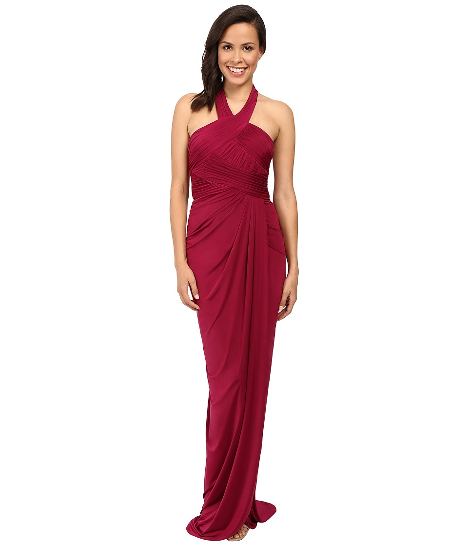 Adrianna Papell - Jersey Draped Gown (Crushed Berry) Women's Dress