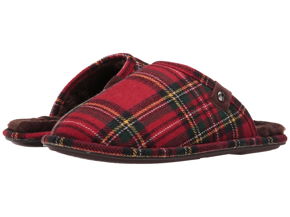 Bedroom Athletics - Ewan (Red/Green Tartan) Men's Slippers