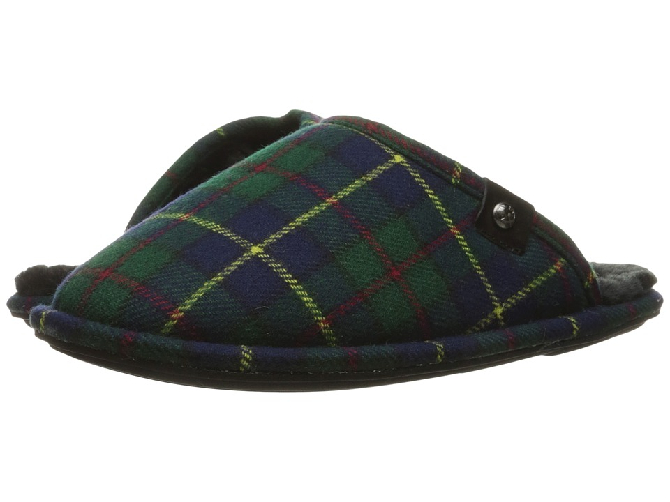 Bedroom Athletics - Ewan (Navy/Green Tartan) Men's Slippers