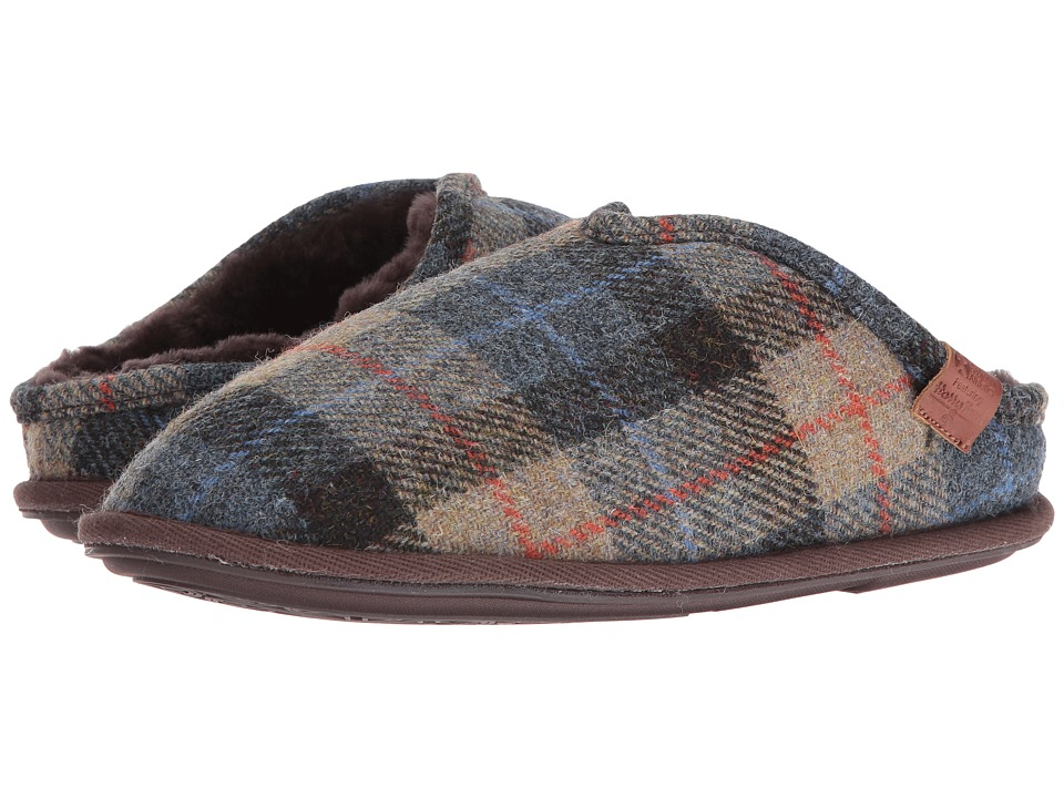 Bedroom Athletics - William Harris Tweed (Natural/Navy Check) Men's Slippers