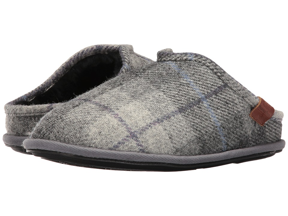 Bedroom Athletics - William Harris Tweed (Grey/Charcoal Check) Men's Slippers
