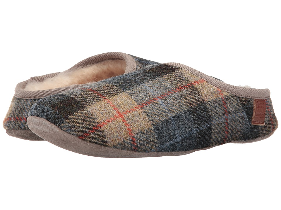 Bedroom Athletics - Henry (Natural/Navy Check) Men's Slippers