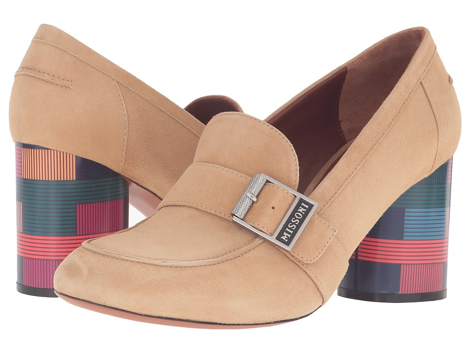 Missoni Graphic Heel Loafer (Beige) Women