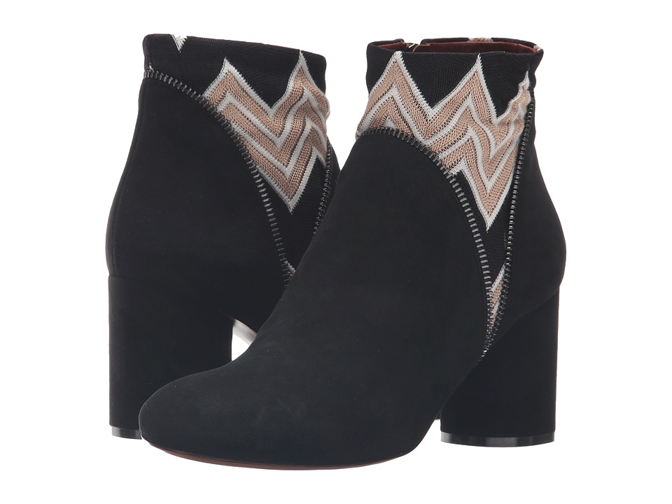 Missoni - Inset Print Ankle Boot (Nero) Women's Boots