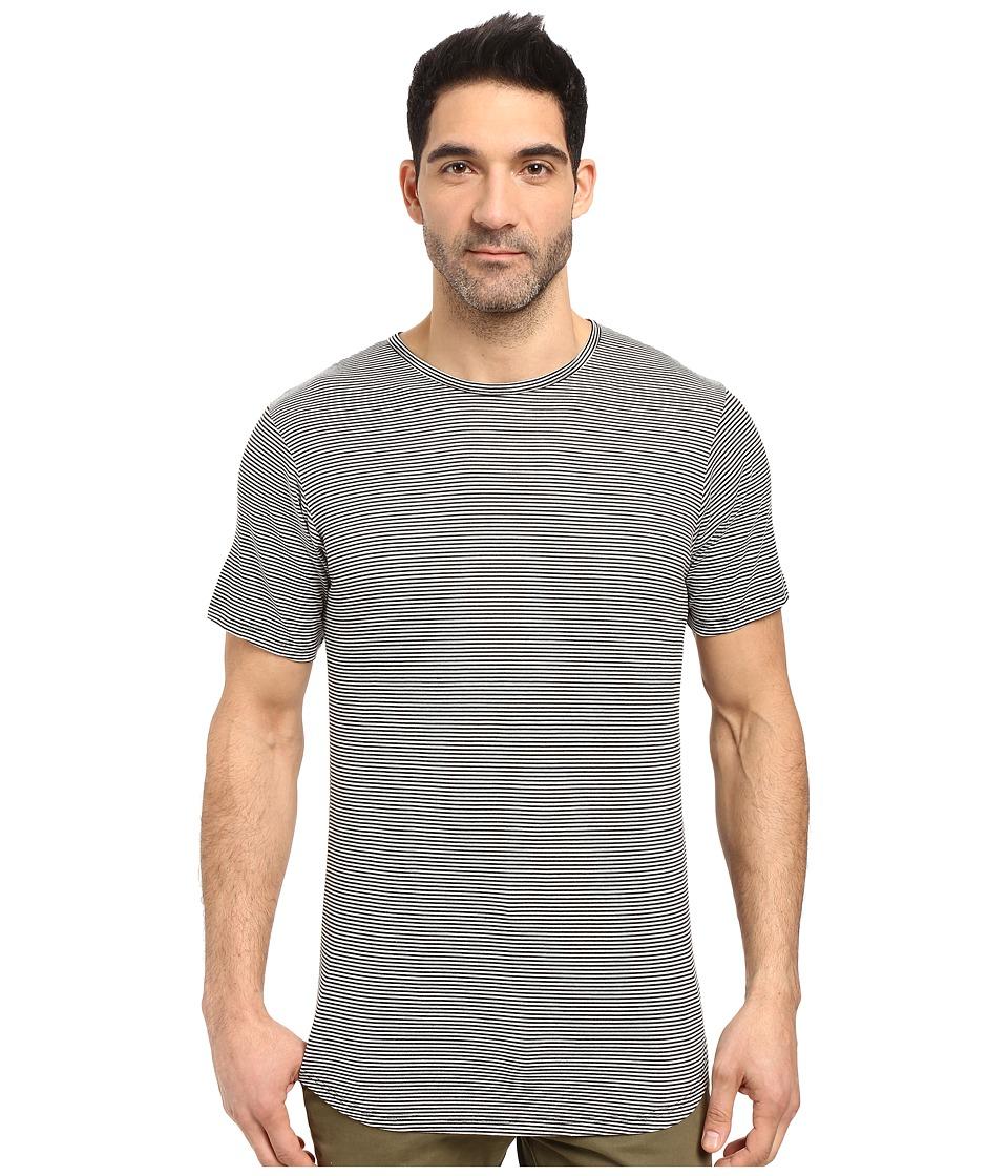 Rustic Dime - Skinny Striped Long Tee (Black) Men's T Shirt