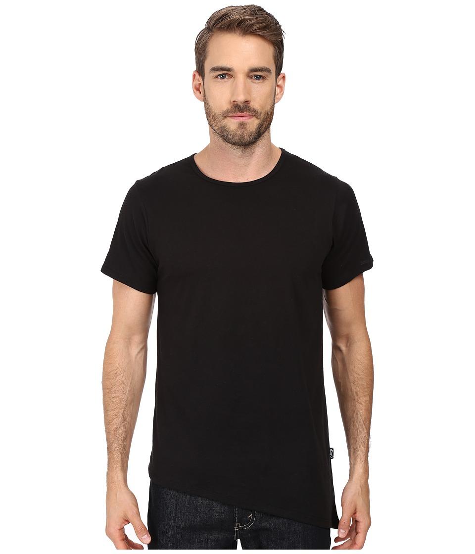 Rustic Dime - Asymmetrical Long Tee (Black) Men's T Shirt