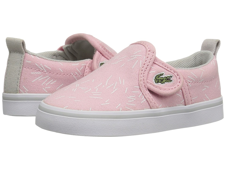 Lacoste Kids - Gazon 316 3 SPI (Toddler/Little Kid) (Light Pink) Girl's Shoes