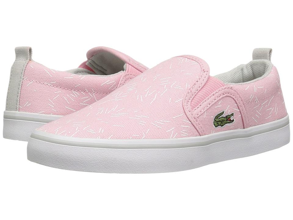 Lacoste Kids - Gazon 316 3 SPC (Little Kid) (Light Pink) Girl's Shoes