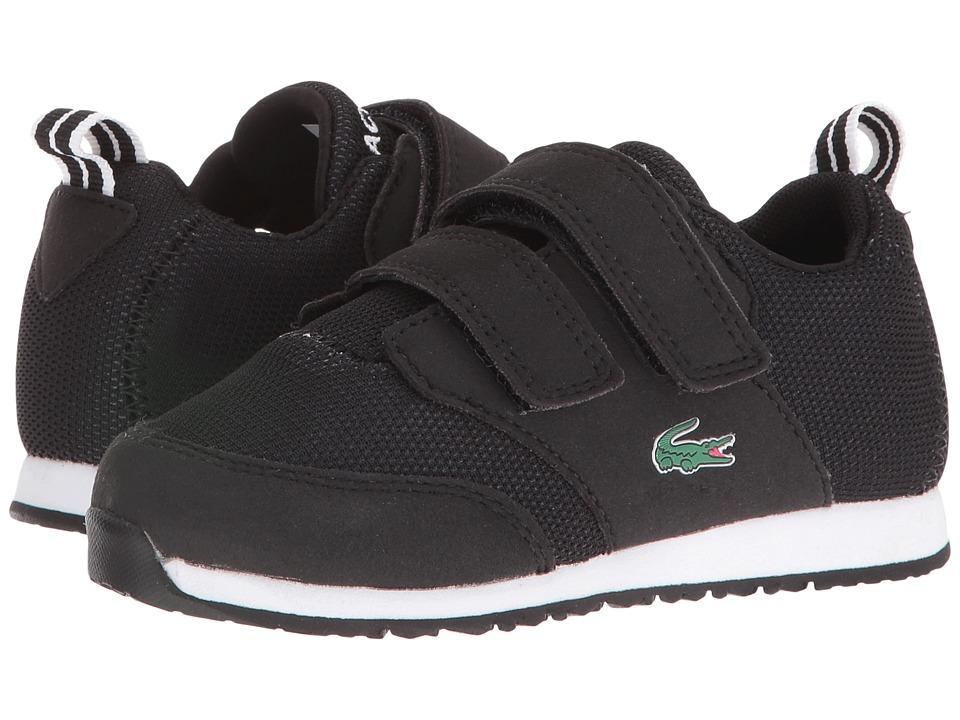 Lacoste Kids - L.Ight 316 1 SPI (Toddler/Little Kid) (Black/Dark Grey) Kid's Shoes