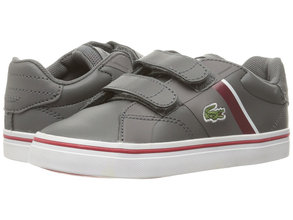 Lacoste Kids - Fairlead 316 1 SPI (Toddler/Little Kid) (Dark Grey) Kid's Shoes