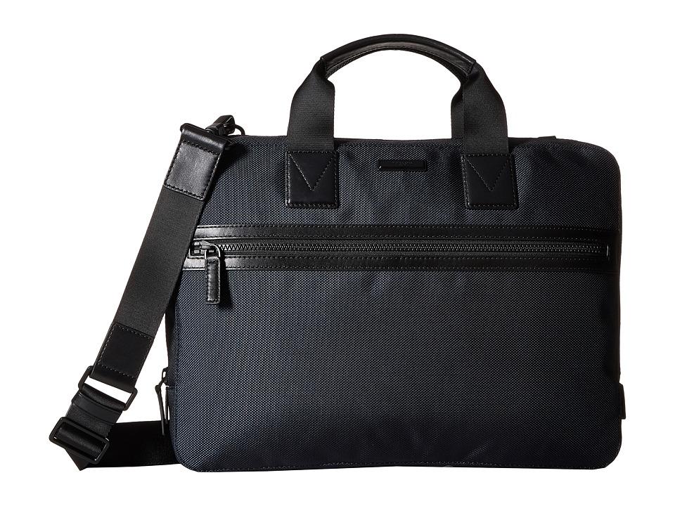 Michael Kors - Parker Slim Briefcase (Navy) Briefcase Bags