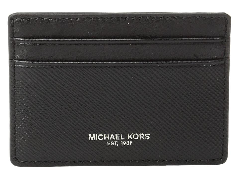 Michael Kors - Box Sets Card Case w/ Magnetic Money Clip Set (Black) Credit card Wallet