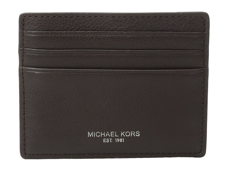 Michael Kors - Bryant Tall Card Case (Brown) Credit card Wallet