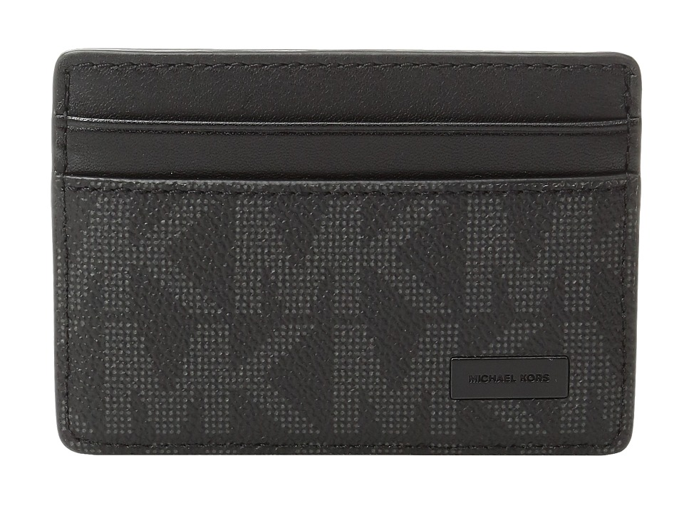 Michael Kors - Box Sets Card Case w/ Magnetic Money Clip Set (Black) Credit card Wallet