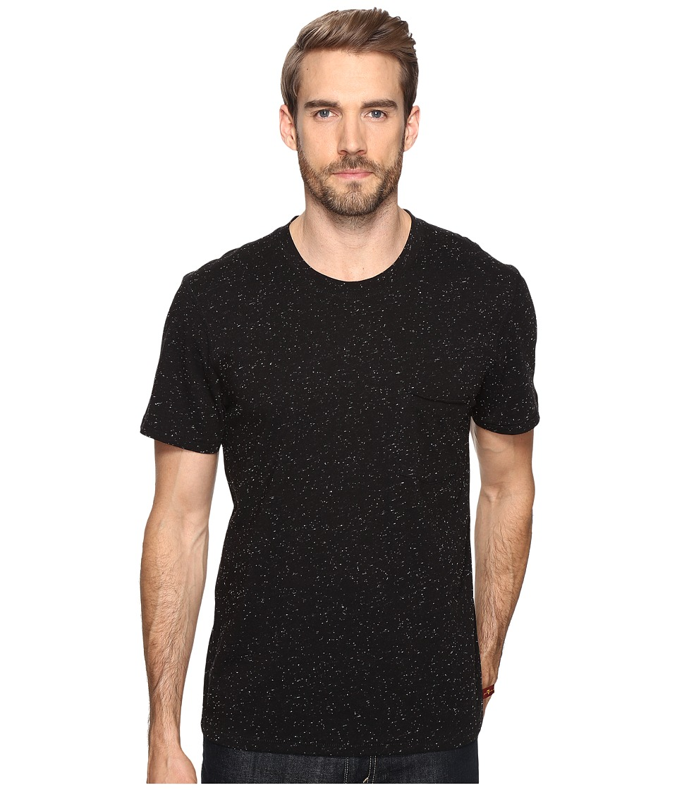 7 For All Mankind - Short Sleeve Crew Neck Tee (Nep Black) Men's Clothing