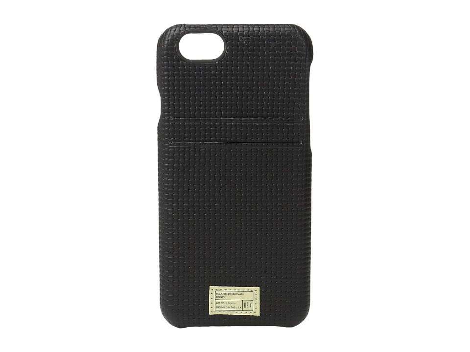 HEX - iPhone6/6S Solo Wallet (Black Woven) Cell Phone Case