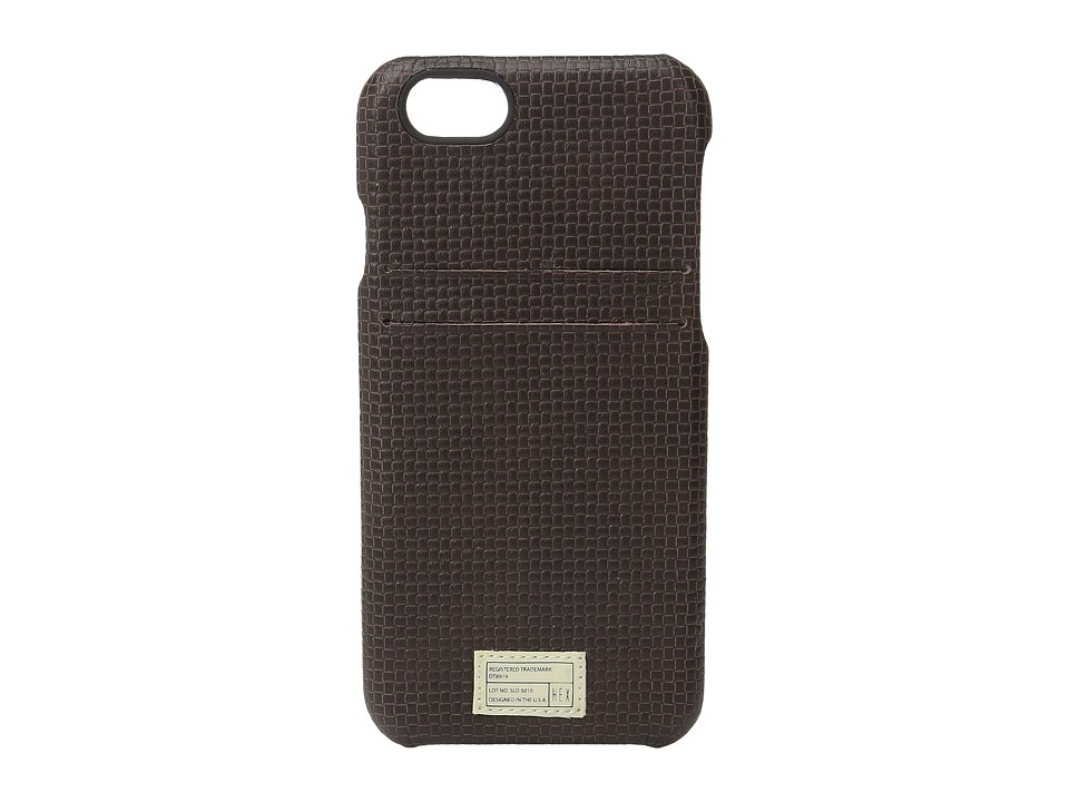 HEX - iPhone6/6S Solo Wallet (Brown Woven) Cell Phone Case