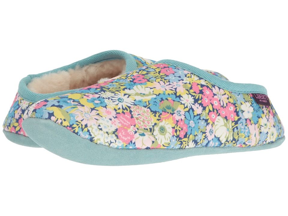Bedroom Athletics - Cora (Baby Blue/Rose Pink Ditsy Floral) Women's Slippers