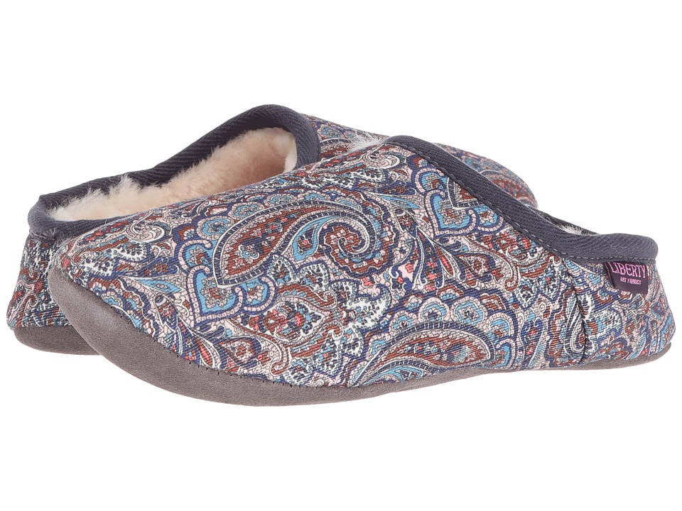 Bedroom Athletics - Cora (Denim/Chocolate Paisley) Women's Slippers