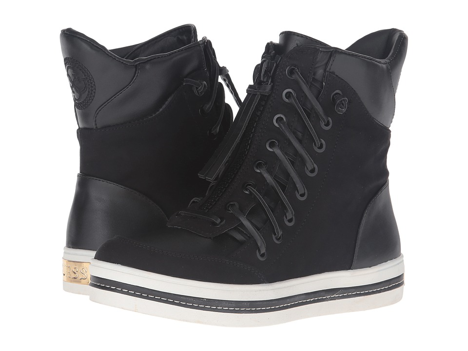 GUESS - Madon (Black) Women's Lace-up Boots