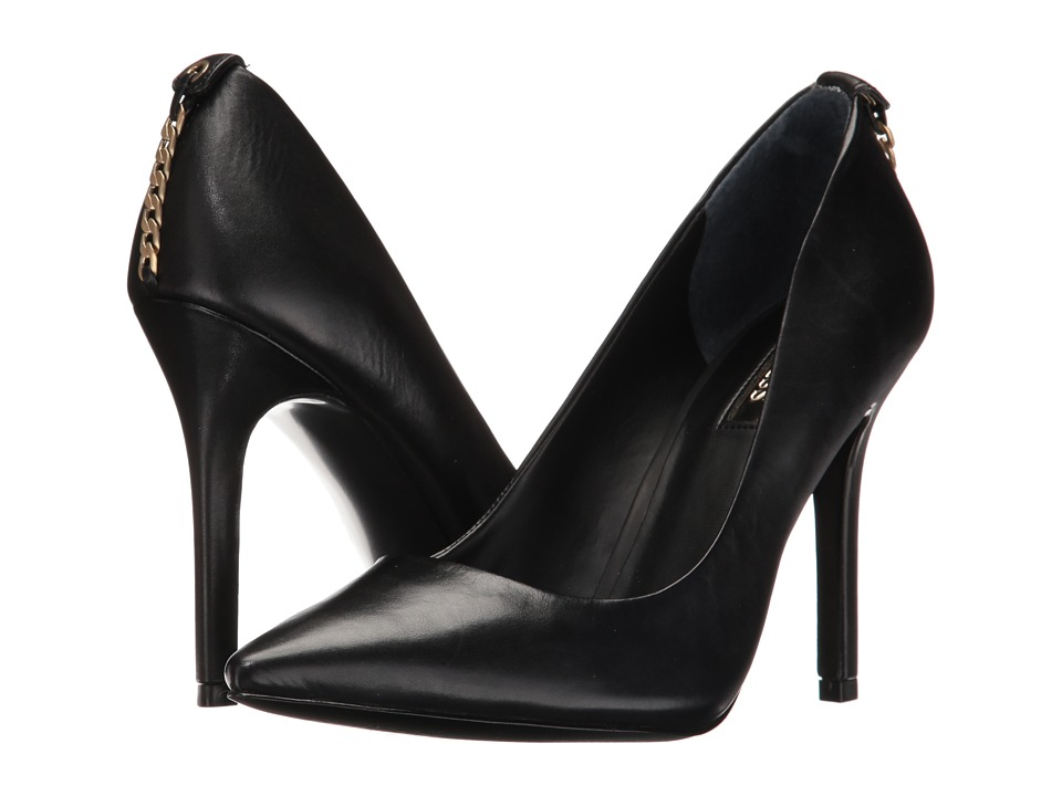 GUESS - Blix (Black Leather) High Heels