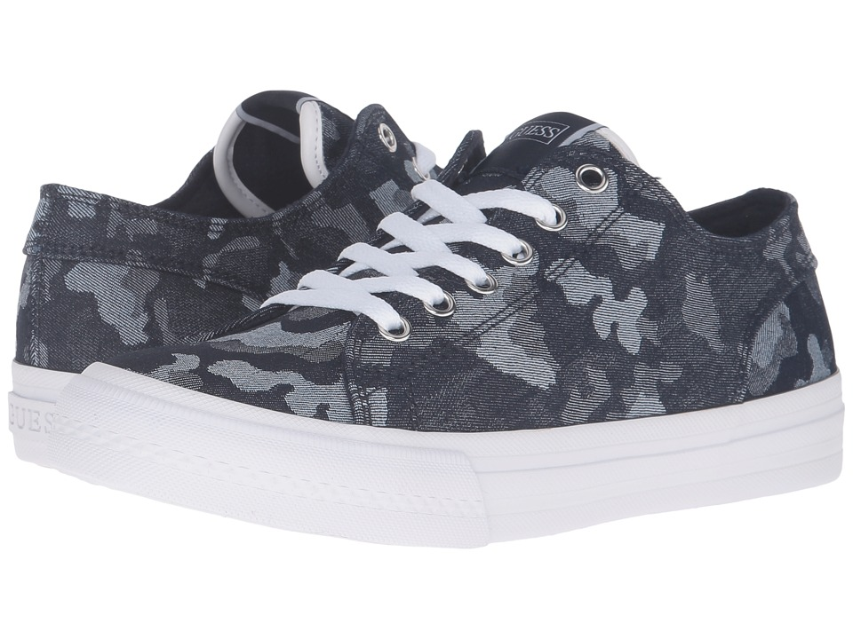GUESS - Gelise (Blue) Women's Lace up casual Shoes