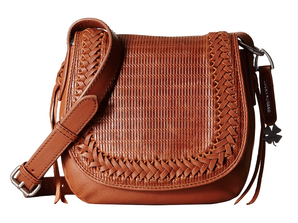 Lucky Brand - Noah Saddle Bag (Brandy) Bags