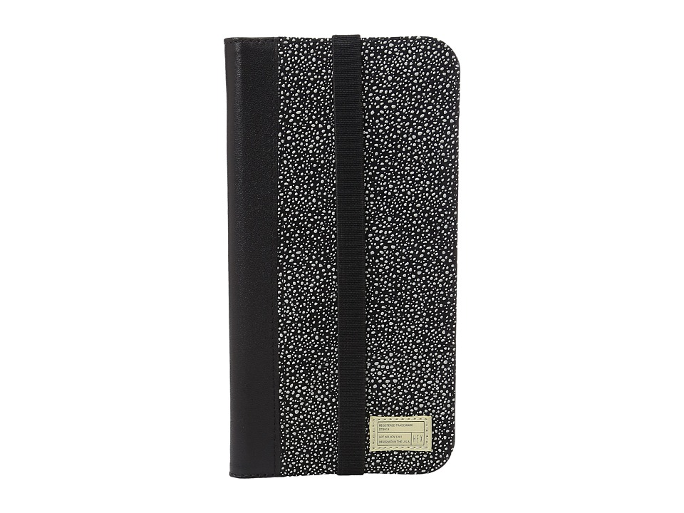 HEX - iPhone6+/6S+ Icon Wallet (Black/White Stingray) Cell Phone Case